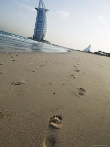 Burj Al Arab Hotel on Jumeirah Beach, Dubai, United Arab Emirates, Middle East by Amanda Hall