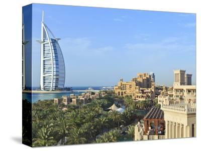 Burj Al Arab, Seen From the Madinat Jumeirah Hotel, Jumeirah Beach, Dubai, Uae