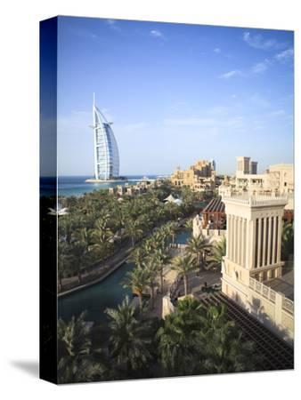 Burj Al Arab Seen From the Madinat Jumeirah Hotel, Jumeirah Beach, Dubai, Uae