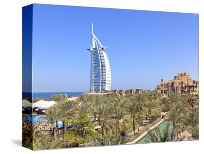 Burj Al Arab Viewed From the Madinat Jumeirah Hotel, Jumeirah Beach, Dubai, Uae