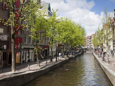 Canal in the Red Light District, Amsterdam, Netherlands, Europe by Amanda Hall