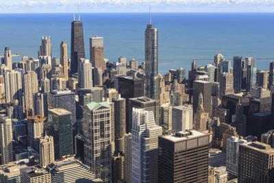 Chicago Cityscape and Lake Michigan, Hancock Center and Trump Tower, Chicago, Illinois, USA by Amanda Hall