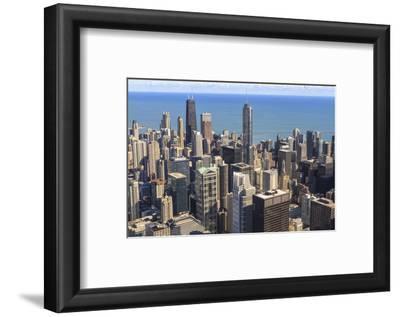 Chicago Cityscape and Lake Michigan, Hancock Center and Trump Tower, Chicago, Illinois, USA