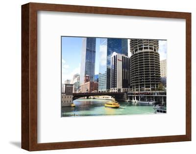 Chicago River and Towers, Chicago, Illinois, United States of America, North America