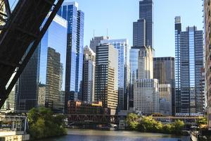 Chicago River and Towers of the West Loop Area by Amanda Hall
