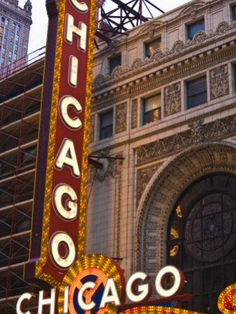 Chicago Theatre, Theatre District, Chicago, Illinois, United States of America, North America by Amanda Hall