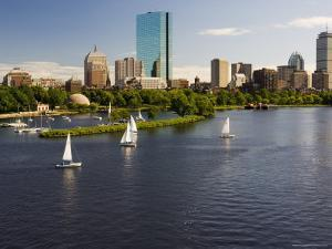 City Skyline from the Charles River, Boston, Massachusetts, USA by Amanda Hall