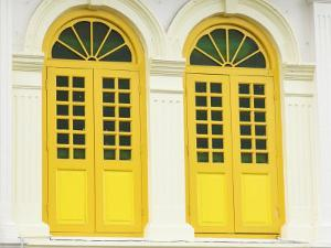Colourfully Painted Window Shutters in Little India, Singapore, Southeast Asia by Amanda Hall