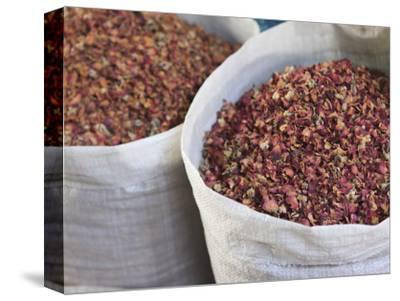 Dried Rose Petals for Sale in the Spice Souk, Deira, Dubai, United Arab Emirates, Middle East