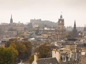 Edinburgh Cityscape From Calton Hill, Edinburgh, Scotland, Uk by Amanda Hall