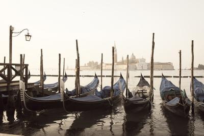 Gondolas Moored on the Lagoon, San Giorgio Maggiore Beyond, Riva Degli Schiavoni by Amanda Hall