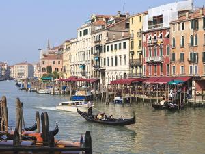 Gondolas on the Grand Canal, Venice, UNESCO World Heritage Site, Veneto, Italy, Europe by Amanda Hall