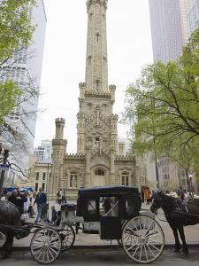 Historic Water Tower, North Michigan Avenue, Chicago, Illinois, USA by Amanda Hall