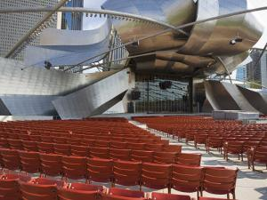 Jay Pritzker Pavilion Designed by Frank Gehry, Millennium Park, Chicago, Illinois, USA by Amanda Hall