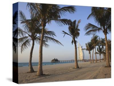 Jumeirah Beach and the Burj Al Arab Hotel, Dubai, United Arab Emirates, Middle East