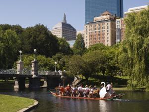 Lagoon Bridge and Swan Boat in the Public Garden, Boston, Massachusetts, United States of America by Amanda Hall