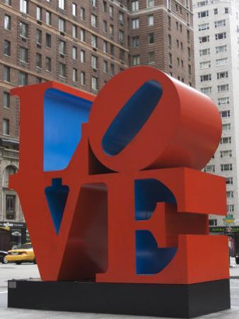 Love Sculpture by Robert Indiana, 6th Avenue, Manhattan, New York City, New York, USA by Amanda Hall
