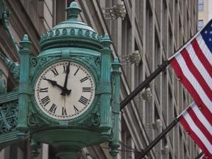 Marshall Field Building Clock, Now Macy's Department Store, Chicago, Illinois, USA by Amanda Hall