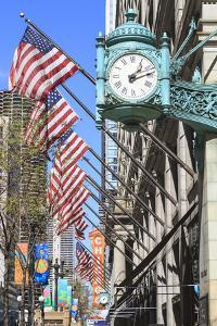 Marshall Field Building Clock, State Street, Chicago, Illinois, United States of America by Amanda Hall