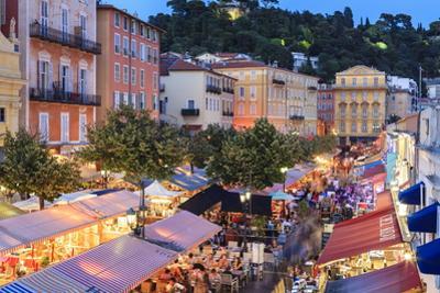 Open Air Restaurants in Cours Saleya by Amanda Hall