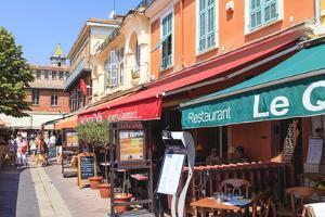 Restaurants in Cours Saleya by Amanda Hall