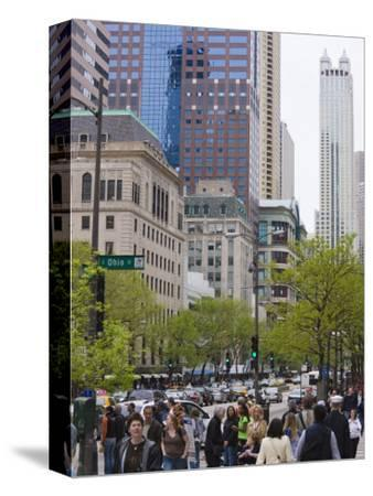 Shoppers on the Magnificent Mile, North Michigan Avenue, Chicago, Illinois, USA