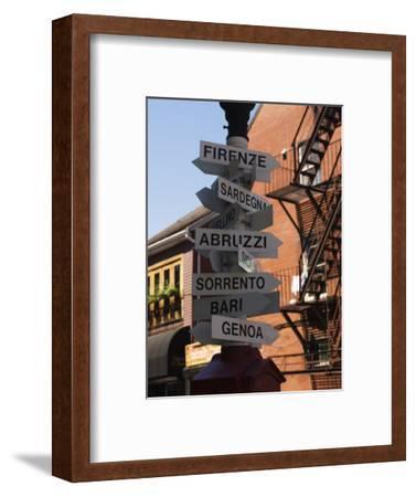 Signpost to Italian Cities, North End, 'Little Italy', Boston, Massachusetts, USA