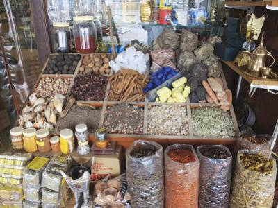 Spices for Sale in the Spice Souk, Deira, Dubai, United Arab Emirates, Middle East by Amanda Hall