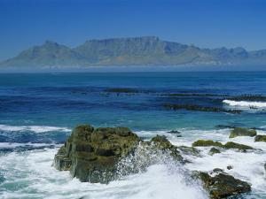 Table Mountain Viewed from Robben Island, Cape Town, South Africa by Amanda Hall