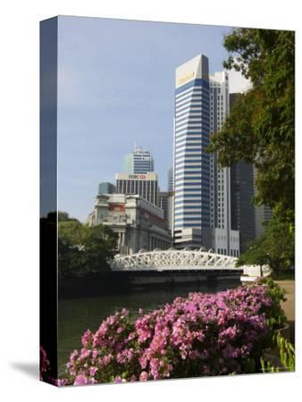 The Financial District from the Singapore River, Singapore, Southeast Asia, Asia