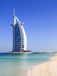 The Iconic Burj Al Arab Hotel, Jumeirah, Dubai, United Arab Emirates, Middle East by Amanda Hall