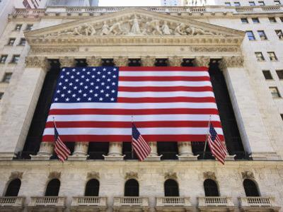 The New York Stock Exchange, Broad Street, Wall Street, Manhattan by Amanda Hall