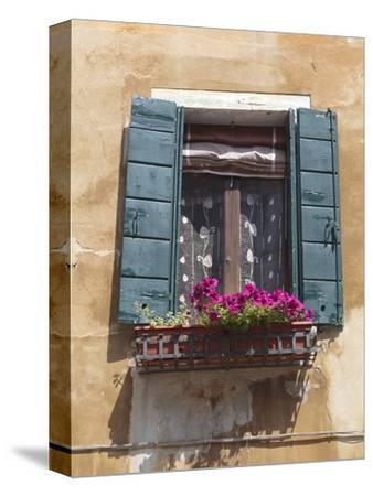 Window and Shutters, Venice, Veneto, Italy, Europe