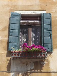 Window and Shutters, Venice, Veneto, Italy, Europe by Amanda Hall