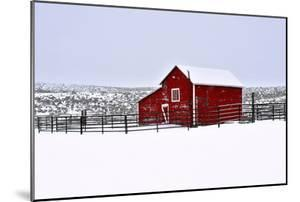Red Barn in Winter by Amanda Lee Smith