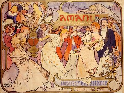 Amants, 1895-Alphonse Mucha-Giclee Print