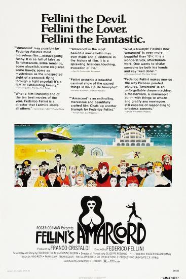 Amarcord, US poster, 1973--Art Print