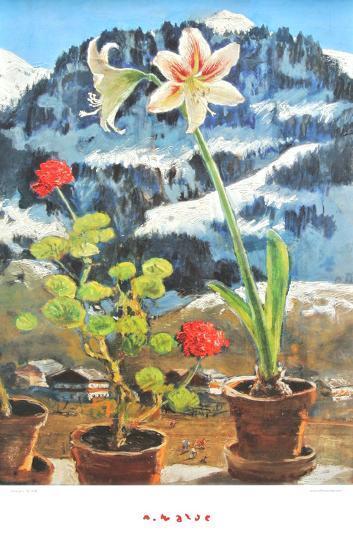 Amaryllis-Alfons Walde-Art Print