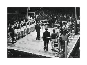 Amateur Boxing Competition Between Germany and Poland, 1936