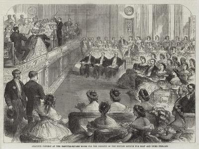 Amateur Concert at the Hanover-Square Rooms for the Benefit of the British Asylum for Deaf and Dumb--Giclee Print
