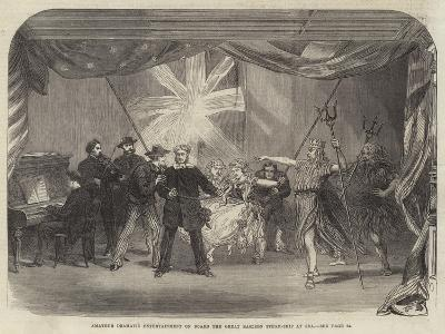 Amateur Dramatic Entertainment on Board the Great Eastern Steam-Ship at Sea--Giclee Print