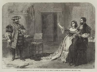 Amateur Performance at the Adelphi Theatre, Scene from A Sheep in Wolf's Clothing--Giclee Print
