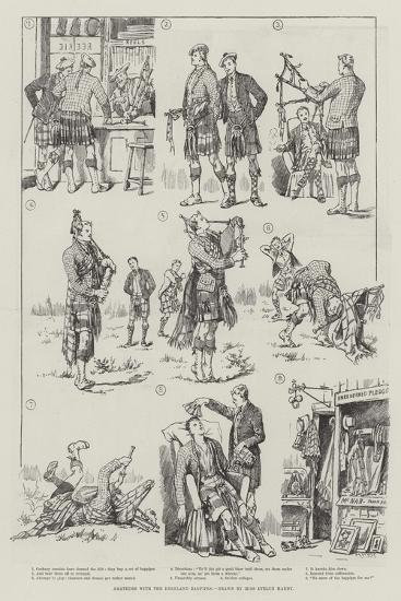 Amateurs with the Highland Bagpipes-Evelyn Stuart Hardy-Giclee Print