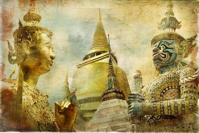 Amazing Bangkok - Artwork In Painting Style-Maugli-l-Art Print