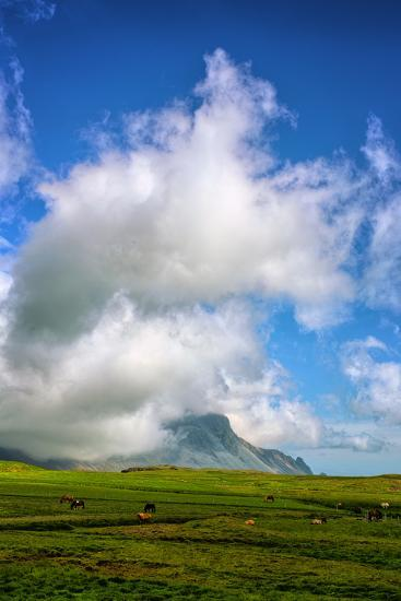 Amazing Clouds at Stokknes, Vestrahorn Iceland Coast-Vincent James-Photographic Print