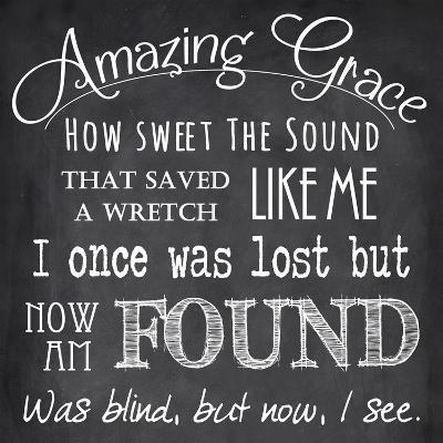 Amazing Grace Chalkboard-Veruca Salt-Art Print
