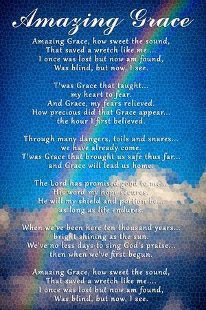 photograph regarding Amazing Grace Lyrics Printable referred to as Outstanding Grace Lyrics Artwork Print as a result of