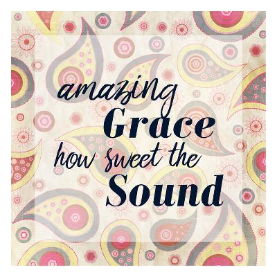 Amazing Grace Paisley-Kimberly Allen-Art Print