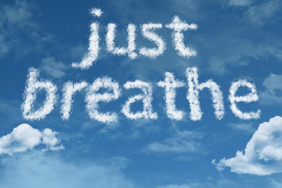 Amazing Just Breathe Text on Clouds' Art Print - Frazao | Art.com