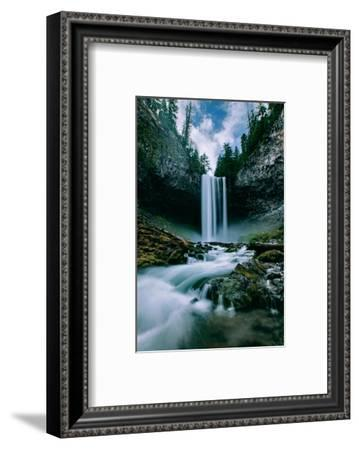 Amazing Mount Hood Waterfall, Tamanawas Falls, National Forest Oregon-Vincent James-Framed Photographic Print